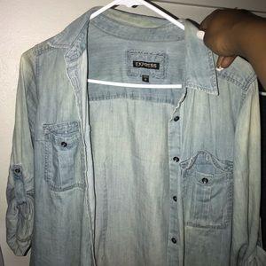 Light blue jean shirt